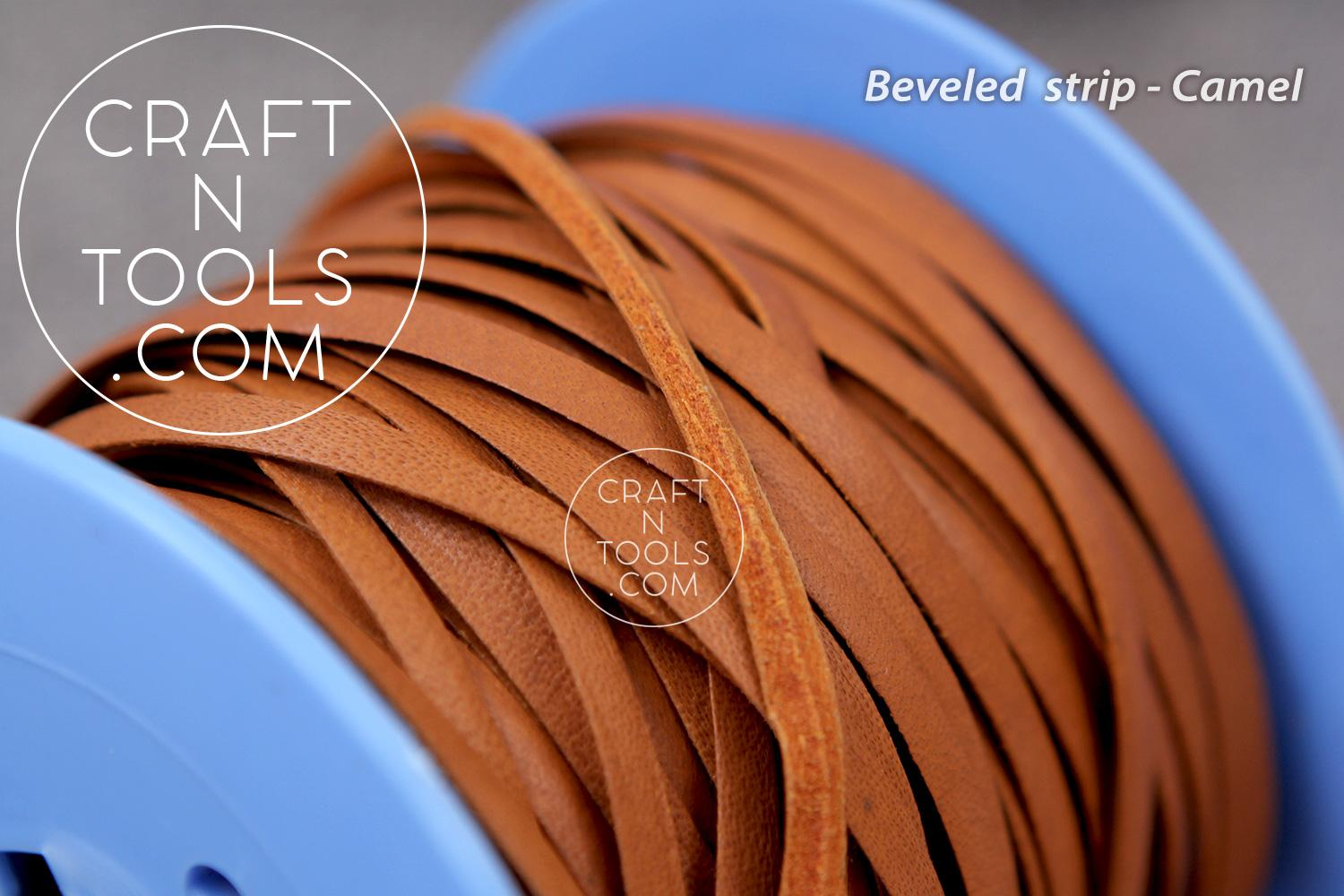 Beveled Leather Strip
