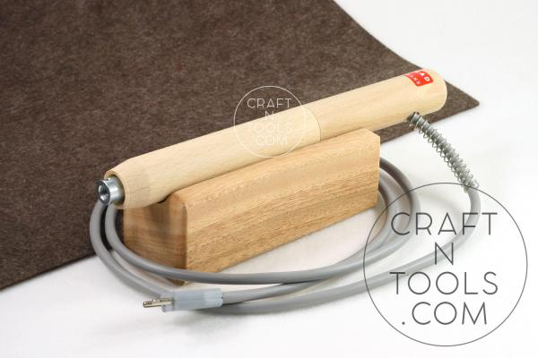 REGAD #1006 Straight Wooden Handle (29mm) for Electric Edging & Creasing Machine